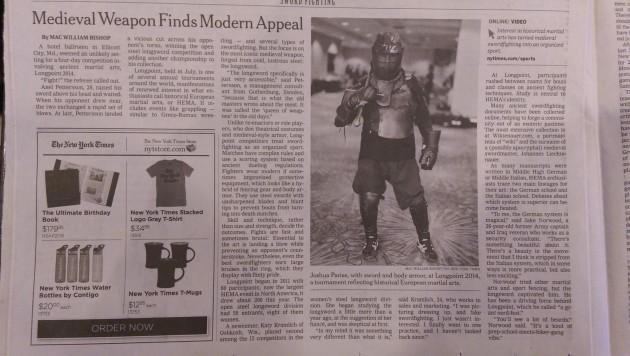 NY Times HEMA Article